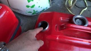 ガソリンタンクのサビ止め,4年後さび防止完璧?!!,耐ガソリン接着剤GM-1508で、2017年で10年OK、フェラーリ120リットルのアルミ製燃料タンクも内面コーティング!! thumbnail