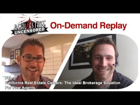 California Real Estate Careers: The Ideal Brokerage Situation For New Agents
