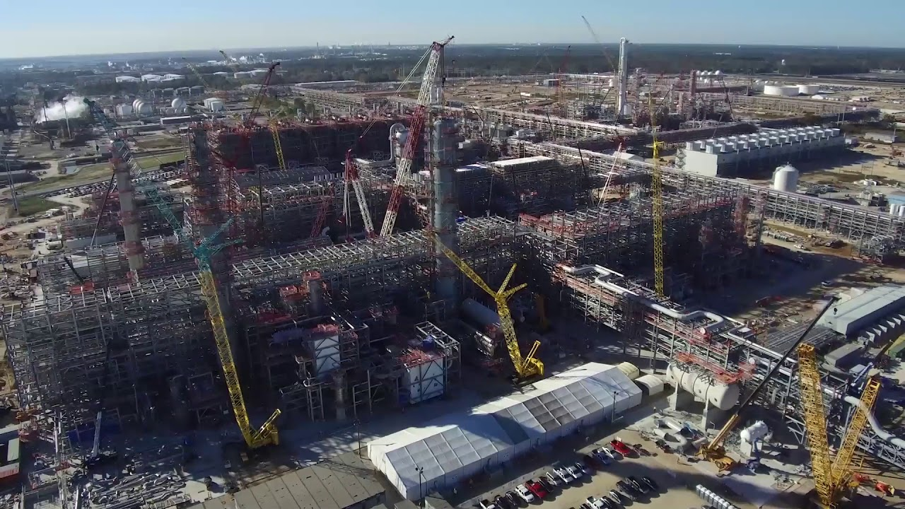 Sasol S Us Mega Project December 2017 Latest Aerial