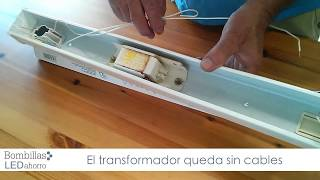 Cómo cambiar un tubo fluorescente por un tubo led