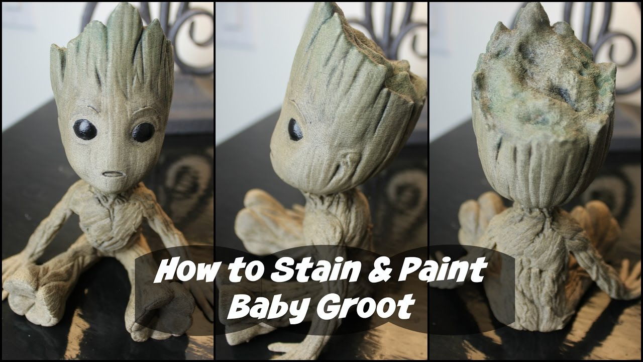 How To Stain Paint Baby Groot