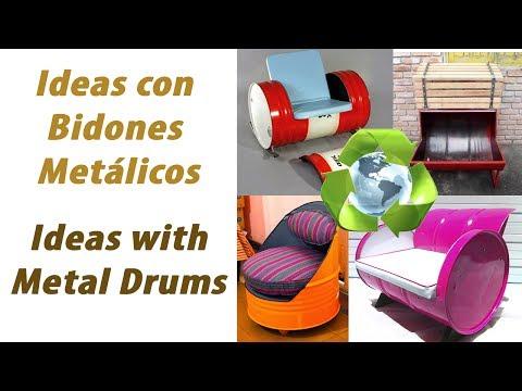 + Ideas para Reciclar Bidones Metálicos
