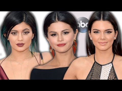 Selena Gomez, Kylie & Kendall Jenner on the Red Carpet American Music Awards 2014