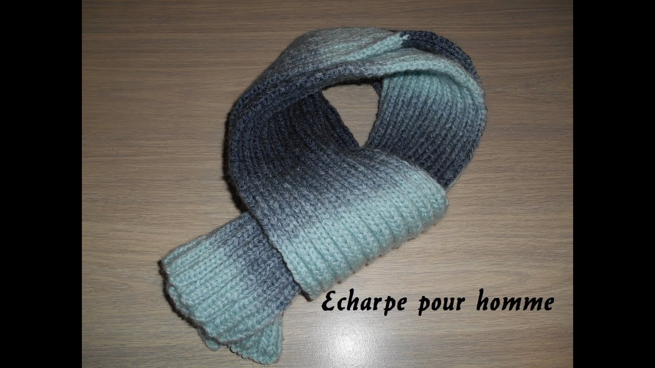 9bc88842807 Avoir le ciel autour du cou   knitting scarf for man - YouTube