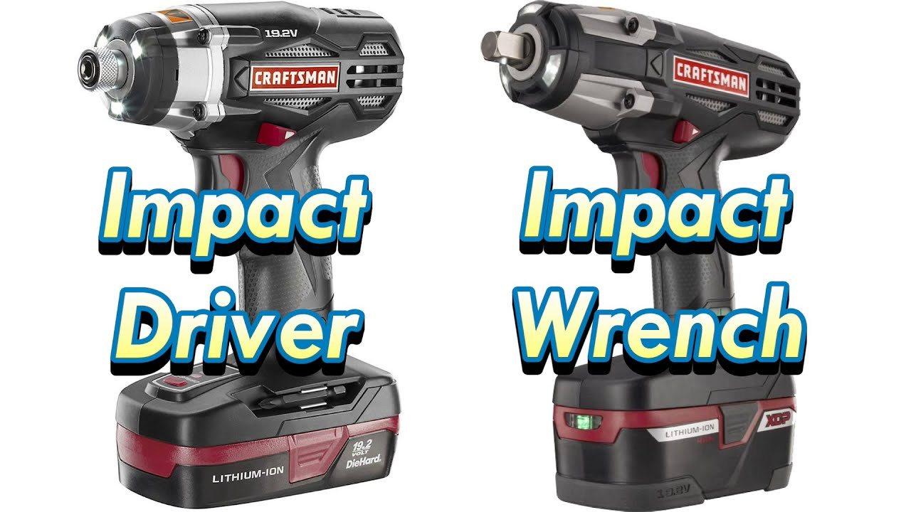Difference Between Impact Driver And Wrench