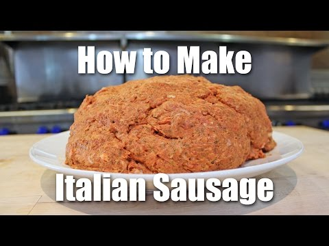 How to Make Italian Sausage for Pizza, Patties and Breakfast