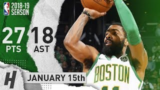 Kyrie Irving CLUTCH Highlights Celtics vs Raptors 2019.01.16 - 27 Pts, 18 Ast, 5 Rebounds!