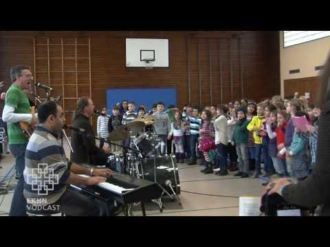 Schulrock mit blinden Musikern