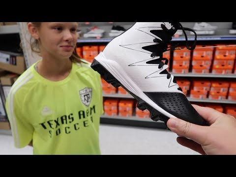 Shopping For NEW Cleats | Running Through The Store