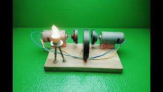 Free Energy Electricity at Home and self running with dc motor