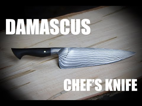 Forging a Damascus Chef's Knife -...