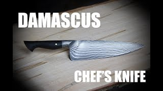 Forging a Damascus Chef