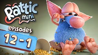 Funny Cartoon Series | Rattic Mini 12-1 Episodes | Funny Animated Cartoon Series For Children
