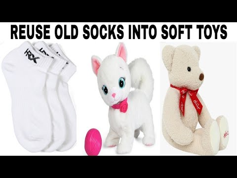 Reuse Old Socks Into Soft Toys/Convert Old Socks Into Toy/Stuffed Toys/Latest Toys/Convert old socks