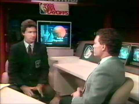 1985 NBA Eastern Finals - Philadelphia @ Boston, Game Five - Halftime