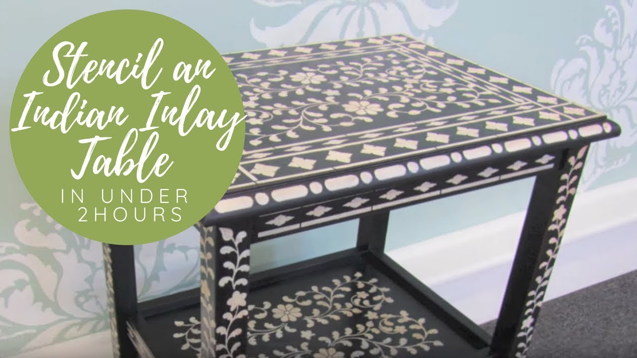 How to stencil furniture with benjamin moore paint youtube for Painting designs on wood furniture