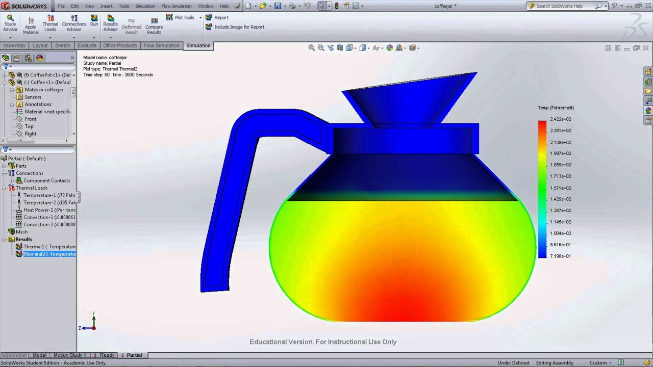 Thermodynamic and Heat Transfer Help Using SolidWorks