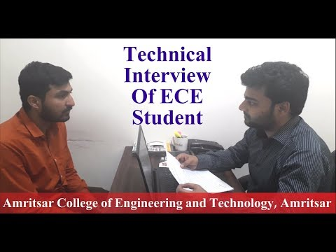 Technical Interview of ECE Student - Amritsar College of Engineering and Technology
