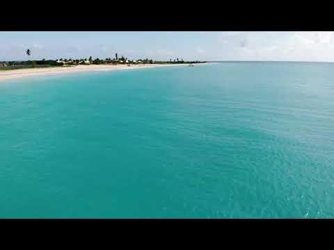 Drone footage on Princess Diana Beach,Barbuda Nov 2020