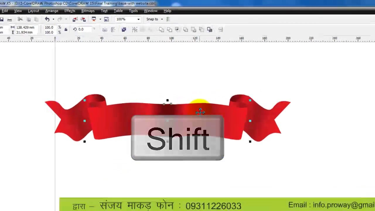 Learn CorelDraw - Tutorial in HINDI -16-Banner - YouTube