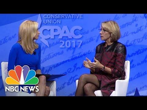 Betsy DeVos Comments On Transgender Bathroom Reversal At CPAC   NBC News