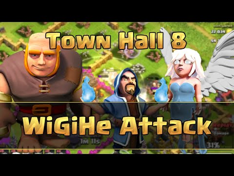 Clash of Clans - TH8 Wizards, Giants, Healer Attack Strategy (WiGiHe)