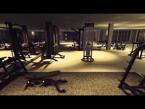 3D gym design walkthrough
