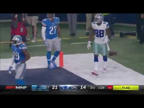 Dez Bryant Td Catch Vs Lions Incredible One Handed 12 26 2016