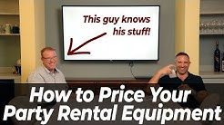 How to Determine Rental Rate for Party Rental - Part 1