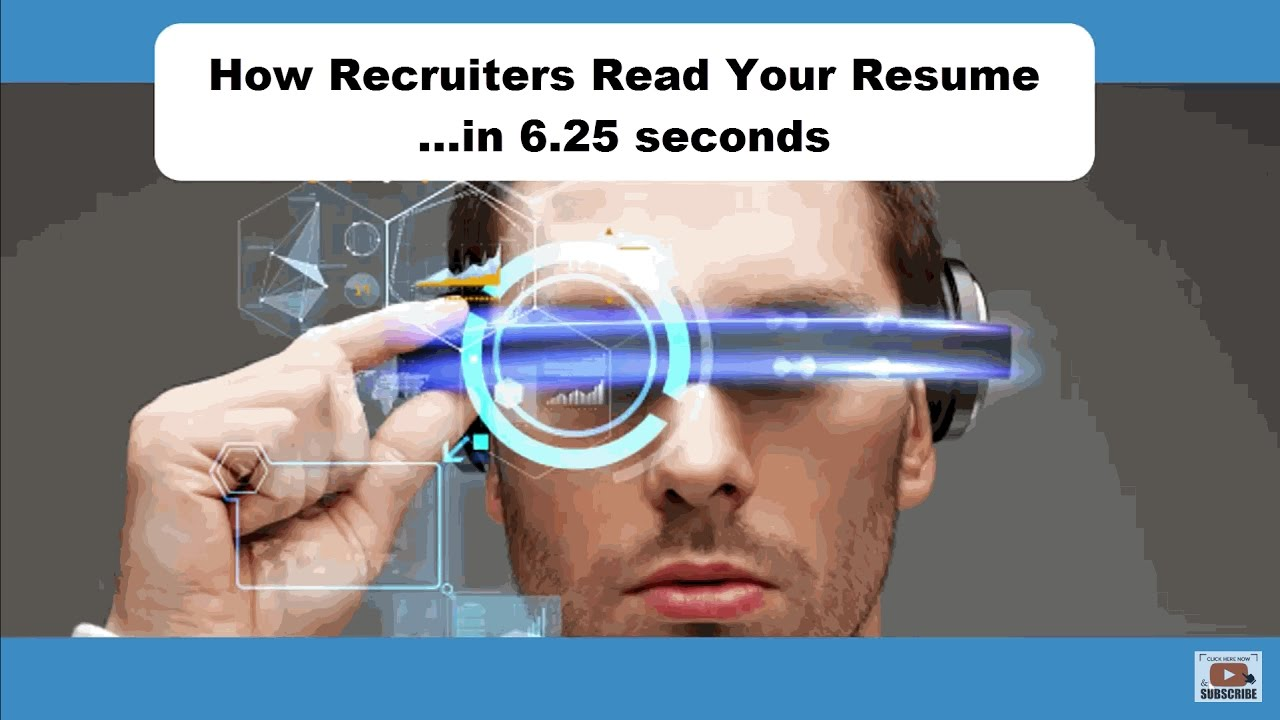 resume How Recruiters Read Resumes how recruiters read your resume in 6 25 seconds youtube seconds