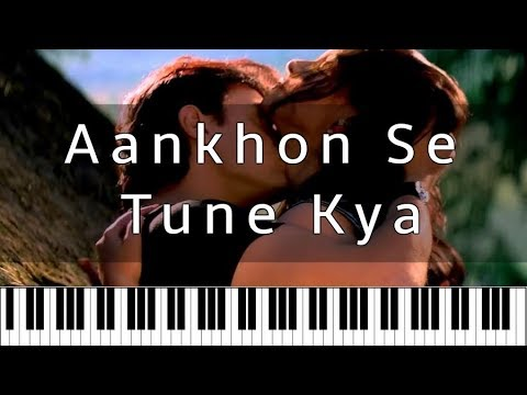 Aankhon Se Tune Kya – Ghulam | Hindi Piano Tutorial | Piano 4 U Cover