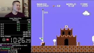 (19:08.65) Super Mario Bros. Warpless speedrun