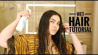 Easy Wet Hair Look Hair Tutorial | StyledByHrush