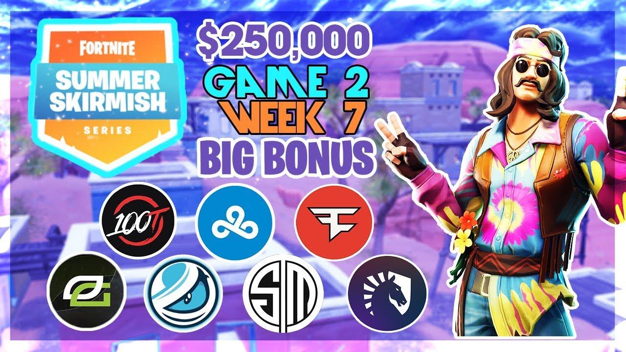 250 000 Big Bonus Summer Skirmish Week 7 Game 2 Fortnite
