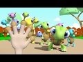 Jari Jariku - KURA KURA 3D  (Turtle Finger Family Song) | Lagu Anak Indonesia