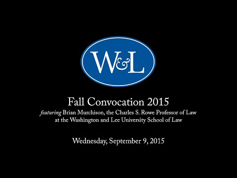 Fall Convocation 2015 featuring Brian Murchison fragman