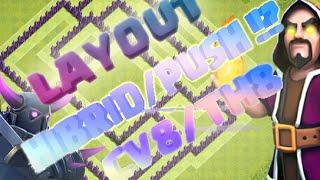 Layout Híbrido/Push!? Cv8+Replays | Layout TownHall 8 Hybrid/Push+Replays