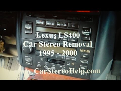 How to Lexus LS400 car radio Stereo Removal 1995 - 2000 replace repair display