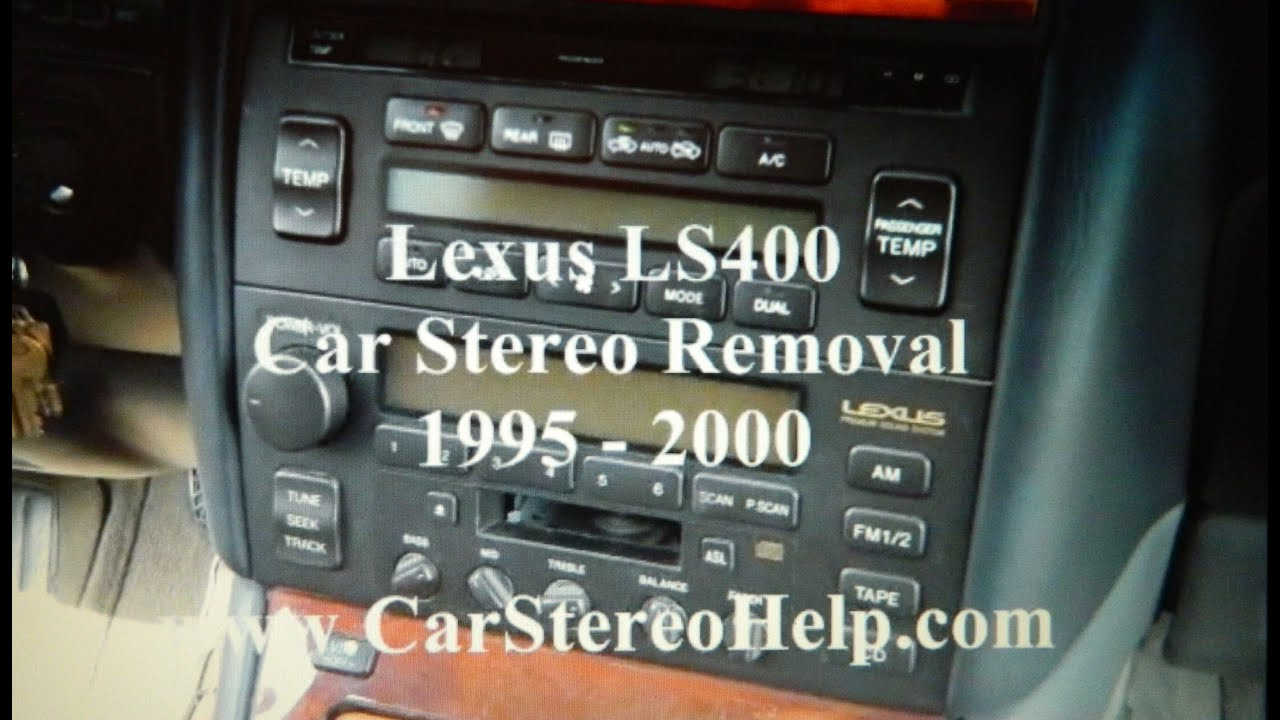 How to Lexus LS400 car radio Stereo Removal 1995 2000 replace