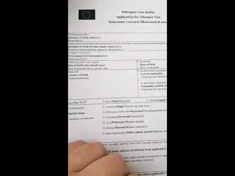 Образец заполнения анкеты на шенгенскую визу. Шенгенская виза.