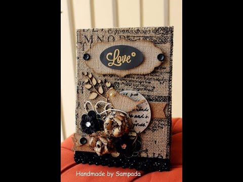 Altered diary using jute roll