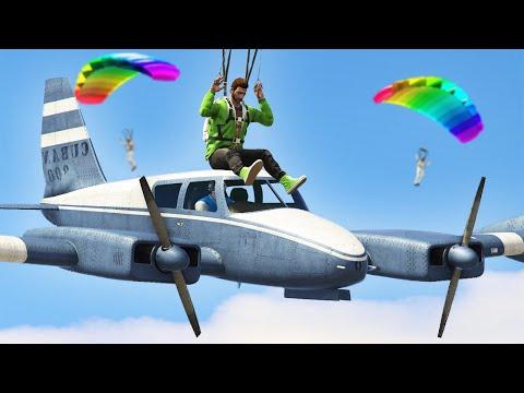 PLANES vs. PARACHUTERS! (GTA 5 Funny Moments)