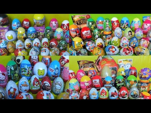 100+ Surprise eggs Kinder Surprise Disney Toys Moshi Monsters compilation