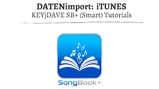 (ST) SongBook+  Datenimport über  iTunes