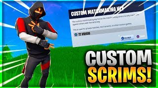 🔴LIVE! *DUOS CUSTOM MATCHMAKING SCRIMS!!* | Fortnite Battle Royale | Road to 4k Subs