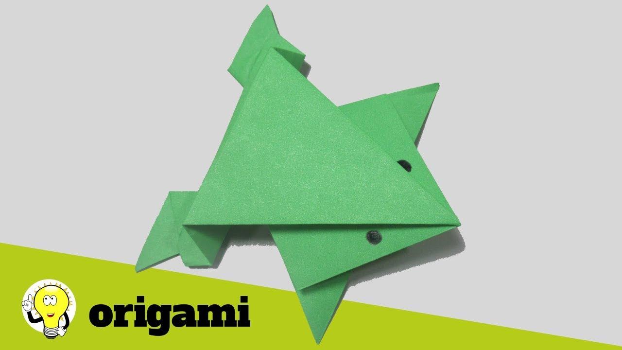 como fazer sapo de papel ( que salta) origami