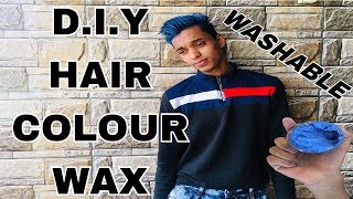 BLUE WASHABLE HAIR COLOUR WAX |COLOR IN JUST 5 mins |MENS AND WOMENS HAIR COLOUR WAX