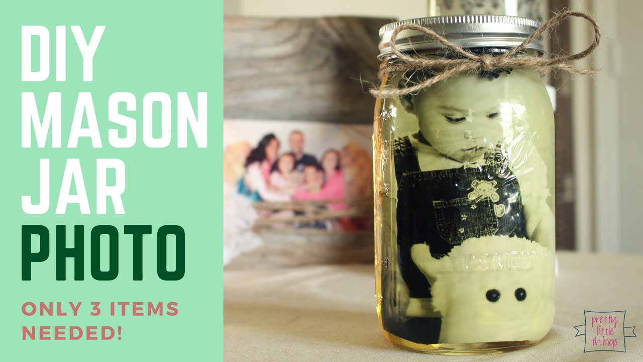 Easy 3 Item Craft Idea Diy Mason Jar Photo Youtube