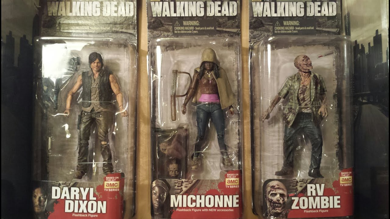 Mcfarlane walking dead series 6 daryl dixon action figure - The Walking Dead Flashback Tv Series Action Figures Daryl Dixon Michonne Rv Zombie Hd Youtube