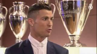 Entrevista a Cristiano tras ganar su cuarto Balón de Oro
